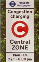 London Congestion Pricing Sign