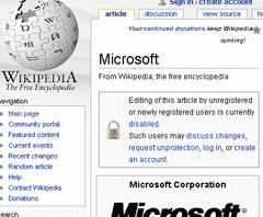 Microsoft page- Wikipedia